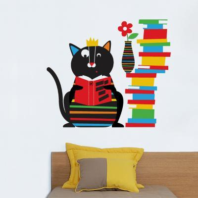 Smarty Cat Wall Decal--Wall Decal