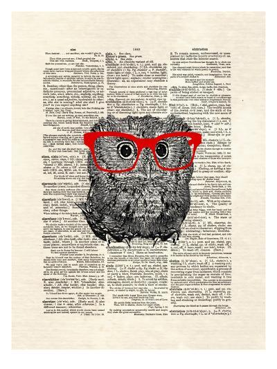 Smarty Owl-Matt Dinniman-Art Print