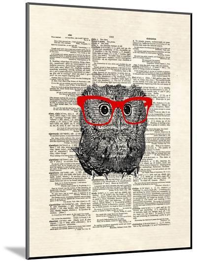 Smarty Owl-Matt Dinniman-Mounted Print