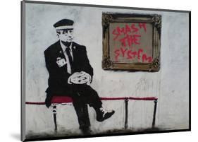 Smash The System-Banksy-Mounted Giclee Print