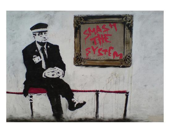 Smash The System-Banksy-Art Print
