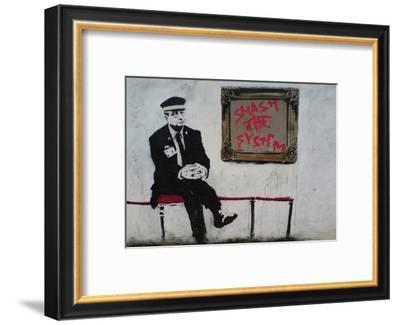 Smash The System-Banksy-Framed Art Print