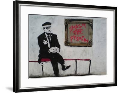 Smash The System-Banksy-Framed Giclee Print