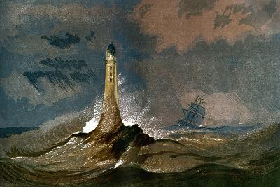 Smeaton's Eddystone Lighthouse, Devon, C1850--Giclee Print