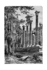 Remains of a Roman Theatre at Besancon, France, 1882-1884 by Smeeton