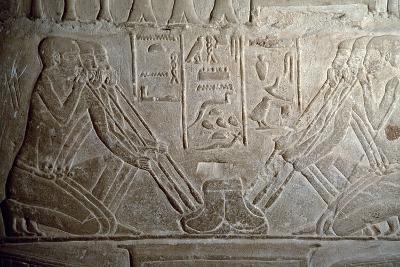 Smelting of Gold, Embossed, Interior of Mastaba of Mereruka, Saqqara--Photographic Print