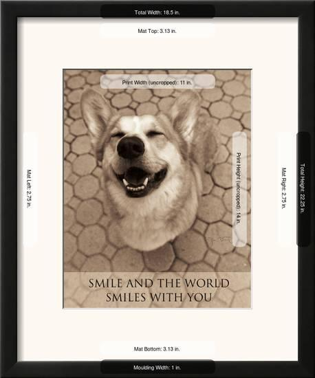 Smile And The World Smiles With You Framed Art Print Jim Dratfield Art Com
