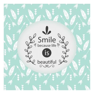 Smile Because-Kimberly Allen-Art Print