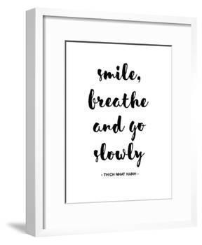 Smile Breathe-Pop Monica-Framed Art Print
