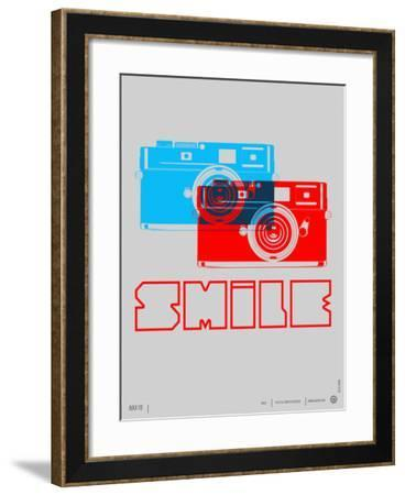 Smile Camera Poster-NaxArt-Framed Art Print