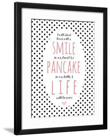 Smile Pancake Life-Cheryl Overton-Framed Giclee Print