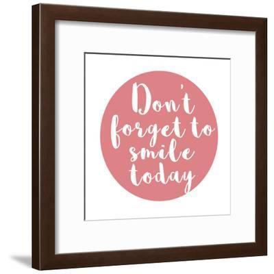 Smile Today-Jelena Matic-Framed Art Print