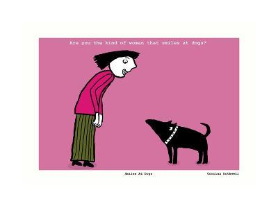 Smiles at Dogs (Pink)-Corrina Rothwell-Giclee Print