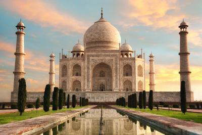 The Magnificent Taj Mahal at A Glorious Sunrise
