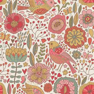 Vintage Floral Romantic Pattern by smilewithjul
