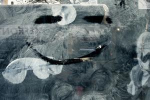 Smiley Face on Frosted Window NYC