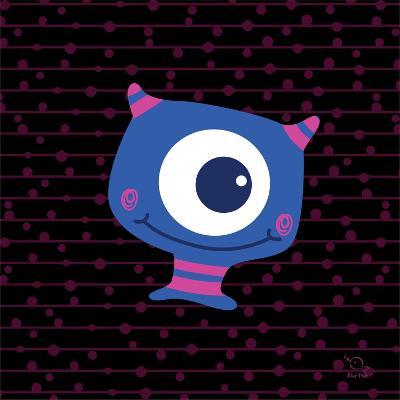 Smiley- Blue Fish-Art Print