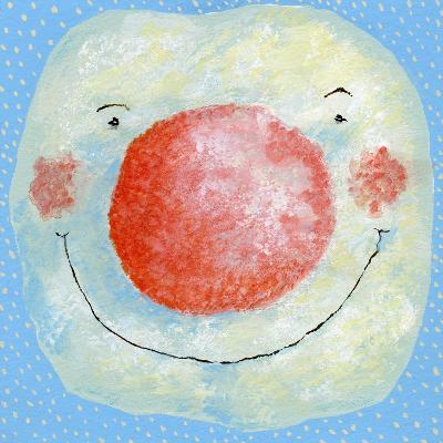 Smiling Snowman-David Cooke-Giclee Print