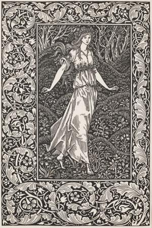 """Smimthsonian Libraries: Frontispiece from """"The Wood Beyond the World"""""""