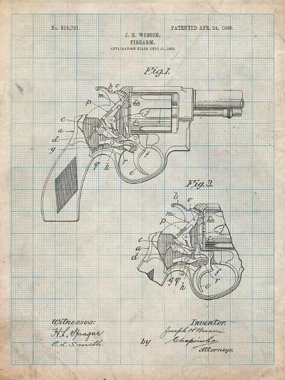 Smith and Wesson Revolver Pistol-Cole Borders-Art Print