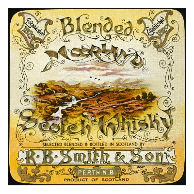Smith's Moorland Blended Whiskey--Giclee Print