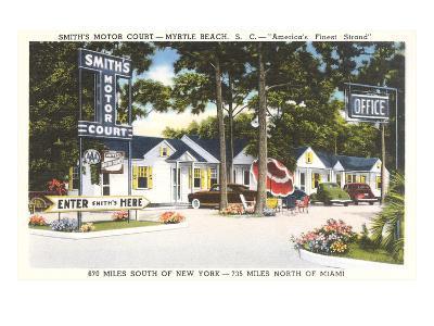 Smith's Motor Court, Myrtle Beach, South Carolina--Art Print