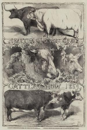Smithfield Club Cattle Show, 1859-Harrison William Weir-Giclee Print