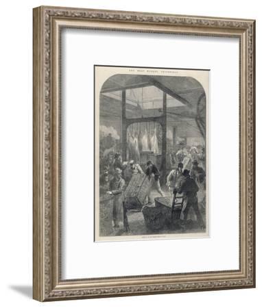 Smithfield Market 1870--Framed Giclee Print