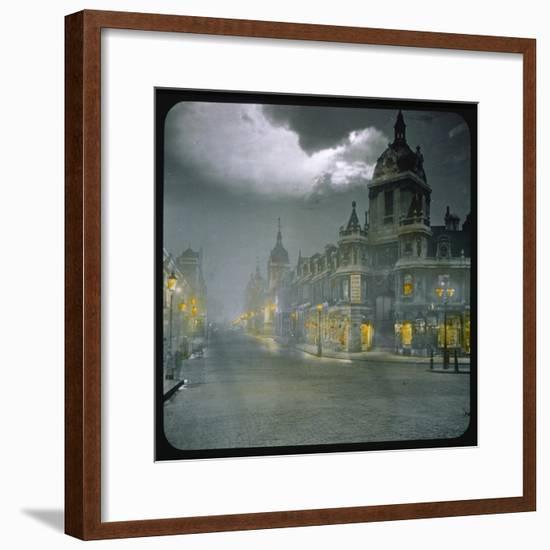 Smithfield Market by Night--Framed Photographic Print