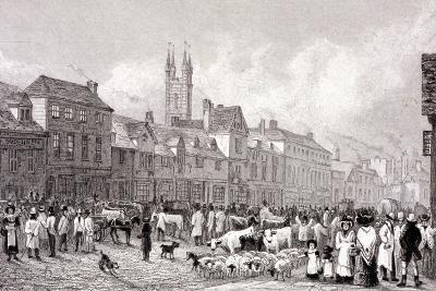 Smithfield Market, London, C1830-George Cooke-Giclee Print