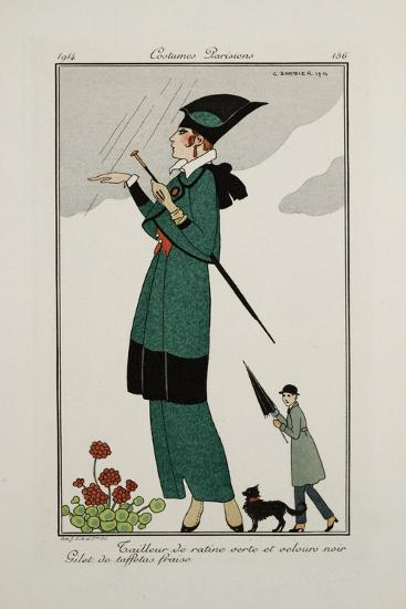 Smithsonian Institution Libraries: Costumes. Journal des dames et des modes,  Plate 156--Art Print