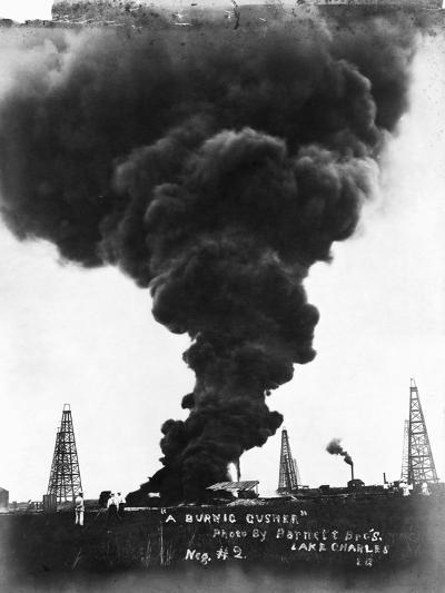 Smoke Billowing from an Oil Well Fire--Photographic Print