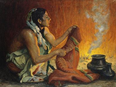Smoke Ceremony-Eanger Irving Couse-Giclee Print