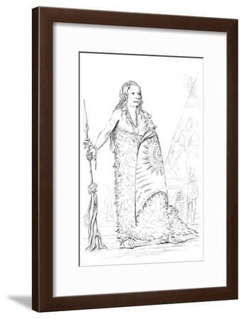 Smoke, Chief of the Ponca Tribe, 1841-Myers and Co-Framed Giclee Print