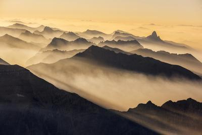 Smoke from Wildfires Shroud the Peaks of the Northern Rockies-Keith Ladzinski-Photographic Print