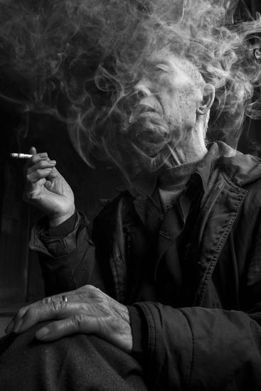 Smoke Man 1-Moises Levy-Photographic Print