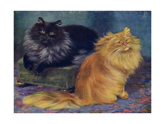Smoke, Orange Persians-W^ Luker-Giclee Print