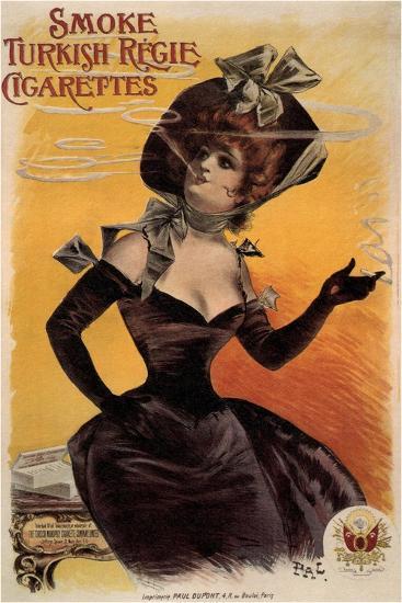 Smoke Turkish Regie Cigarettes, 1895-Jean de Paléologue-Giclee Print
