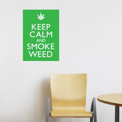 Smoke Weed Wall Decal--Wall Decal