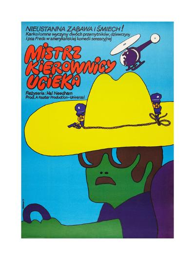 SMOKEY AND THE BANDIT, (aka MISTRZ KIEROWNICY UCIEKA), Polish poster, 1977--Art Print