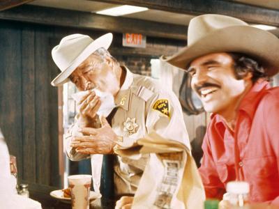 Smokey And The Bandit, Jackie Gleason, Burt Reynolds, 1977--Photo