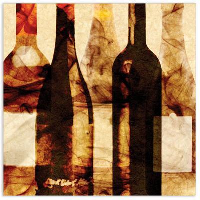 Smokey Wine 3 - Free Floating Tempered Glass Wall Art