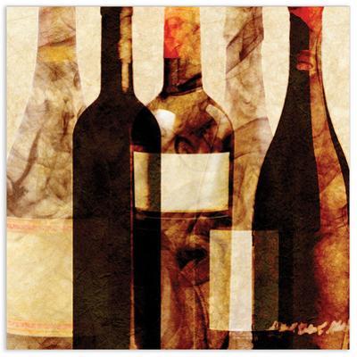 Smokey Wine 4 - Free Floating Tempered Glass Wall Art
