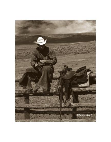 Smokin' Cowboy-Barry Hart-Art Print