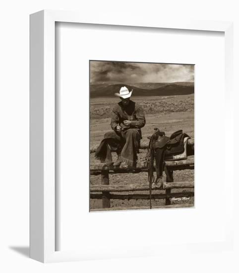 Smokin' Cowboy-Barry Hart-Framed Art Print