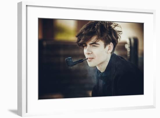 Smoking Man-Sveta Yaroshuk-Framed Photographic Print