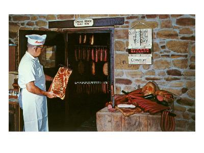 Smoking Meat--Art Print