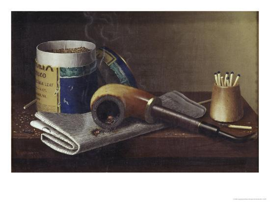 Smoking Scene-William Michael Harnett-Giclee Print