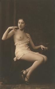 Smoking Woman with Slip