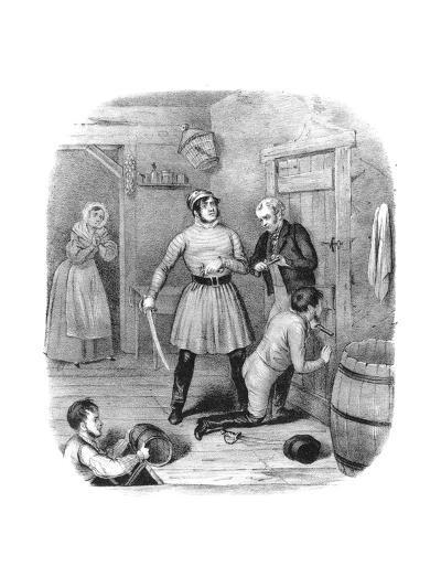 Smugglers Alarmed, 18th Century-W Clerk-Giclee Print
